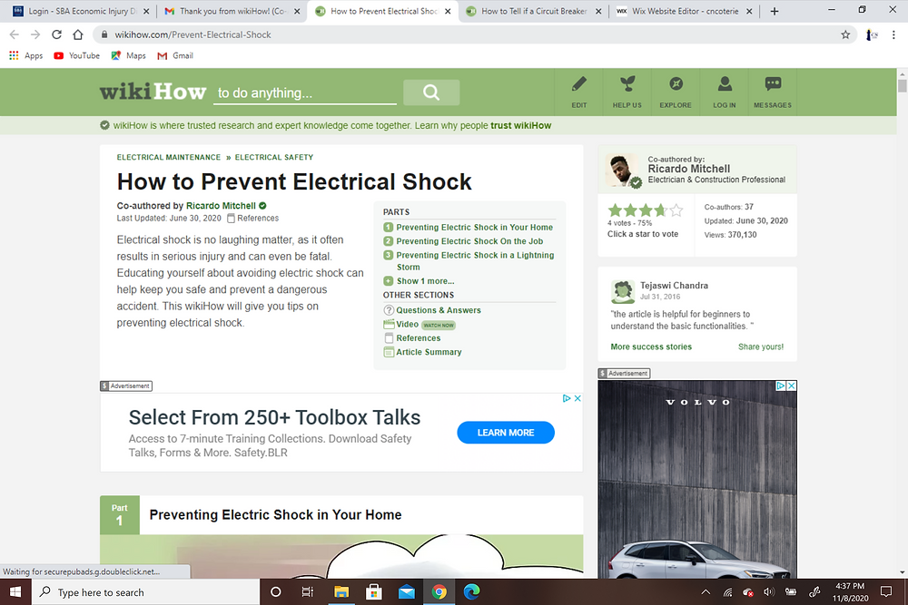 A Tutorial How to Prevent Electrical Shock - CN Coterie in Association with WikiHow