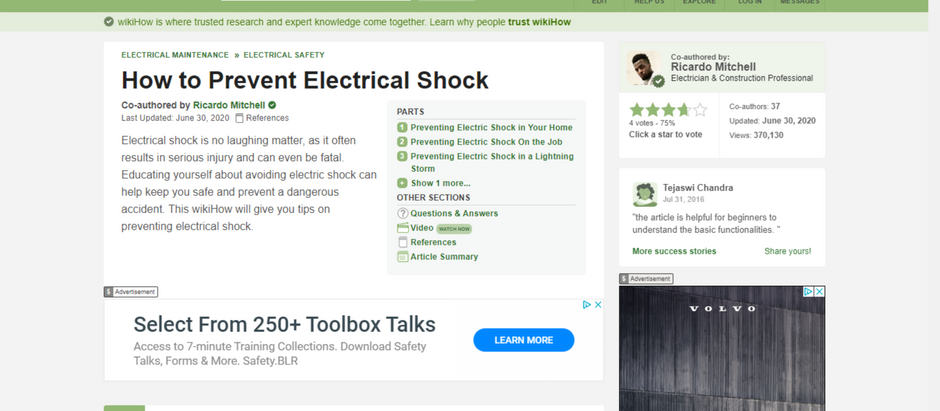 How to Prevent Electrical Shock - CN Coterie in Association with WikiHow