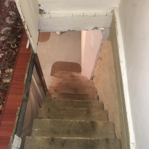 Stairway Installation by CN Coterie (Before)