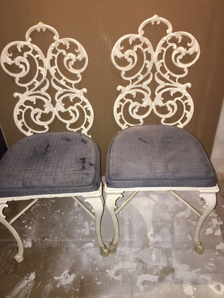 Metal Chair Restoration by CN Coterie (Before)