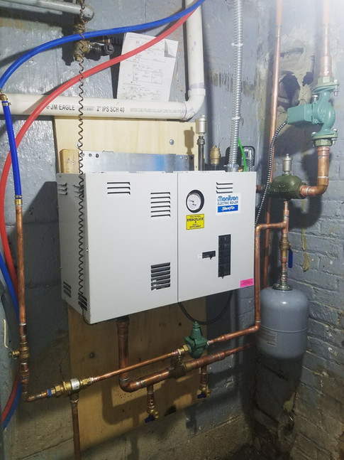 Slantfin Electric Boiler Installation by CN Coterie