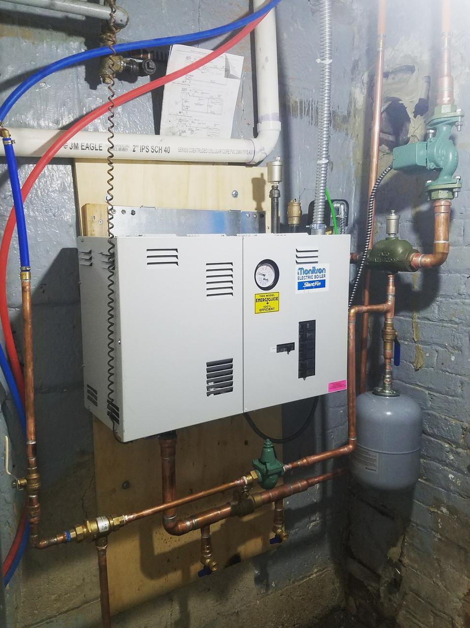 Slantfin Electric Boiler Installation by CN Coterie