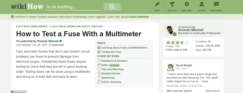 Tutorial how to Test Electrical Fuse With a Multimeter - CN Coterie in Association with WikiHow