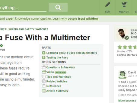 How to Test Electrical Fuse With a Multimeter - CN Coterie in Association with WikiHow