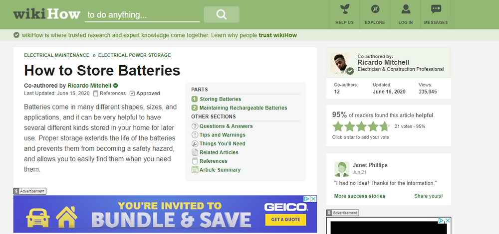 A Tutorial How to Store Batteries - CN Coterie in Association with WikiHow
