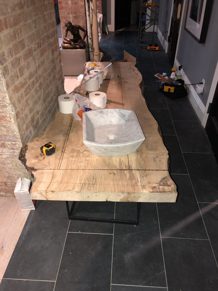Bathroom Counter Installation by CN Coterie (Before)