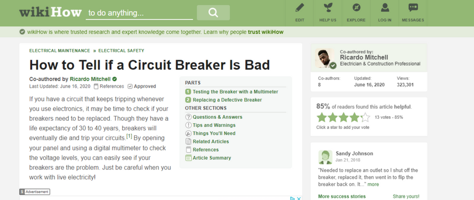 How to Tell if a Electrical Circuit Breaker Is Bad - CN Coterie in Association with WikiHow