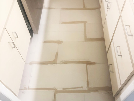 Ceramic Tile Lippage Removal & Tile Refinish by CN Coterie (Before & After)