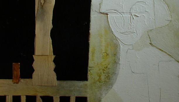 Finestra con bicchiere e scultura(029)
