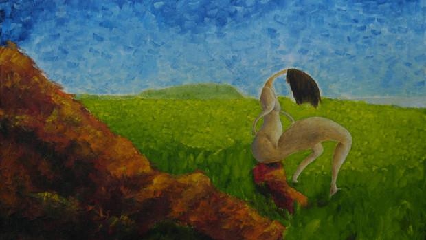 Paesaggio con donna