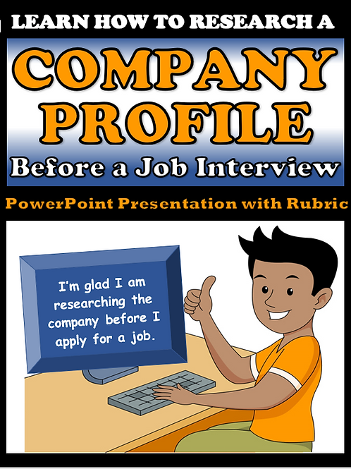 Company Research for a Job Interview (Editable for Distance Learning)