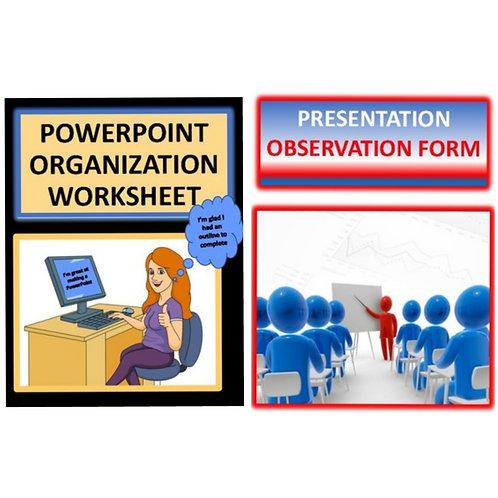 ***BUNDLE**** PowerPoint Organization Form and Presentation Observation Form