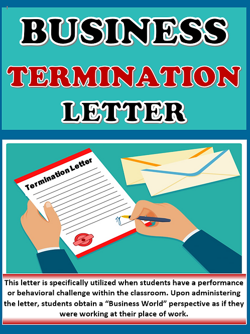 Business Simulation Termination Letter for Students
