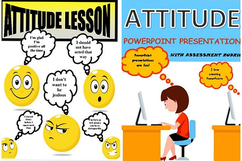 ***BUNDLE*** Attitude Lesson and Attitude Powerpoint Presentation