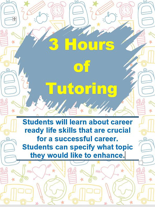3 Hours of Tutoring with Career Ready Education