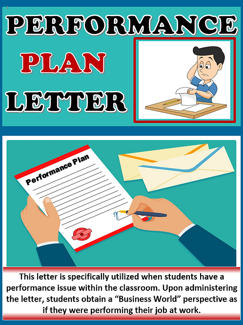 Business Simulation Performance Plan Letter for Students