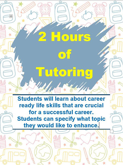 2 Hours of Tutoring with Career Ready Education