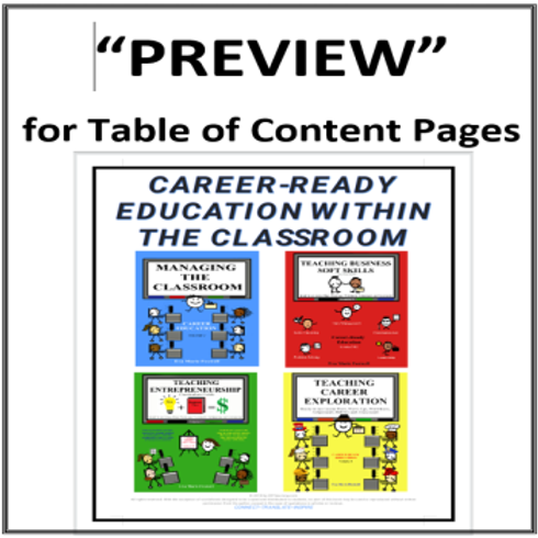 Table of Contents for Curriculum Guide Volumes 1-4