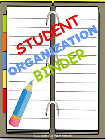 Student Organization Binder PDF with Rubric