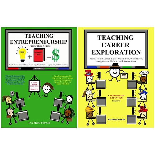 ***BUNDLE***  Entrepreneurship & Teaching Career Exploration (Print format)