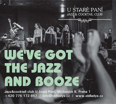 Jazzový koncert s degustací dle svého výběru pro 1 osobu