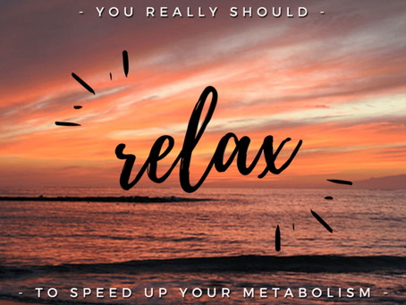 Slow Down Your Life to Speed Up Your Metabolism