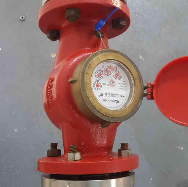 aferição em hidrômetro