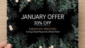 Take advantage of our JANUARY OFFER!