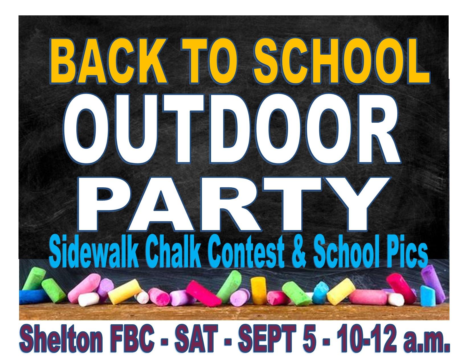 Sidewalk Chalk Party