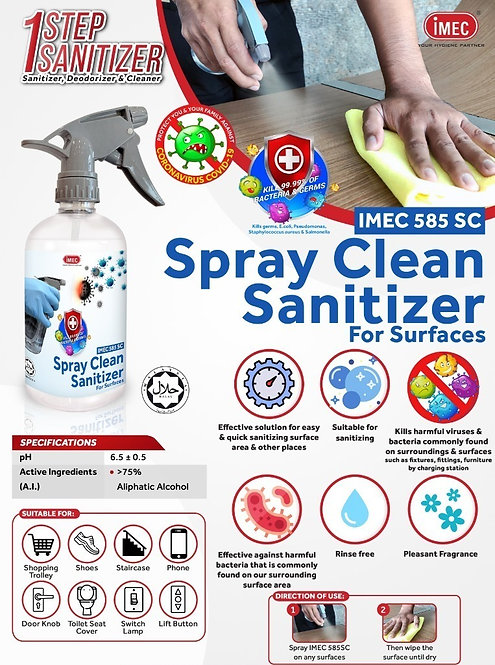BUY 5 FREE 1 - Spray Clean Sanitizer 585sc