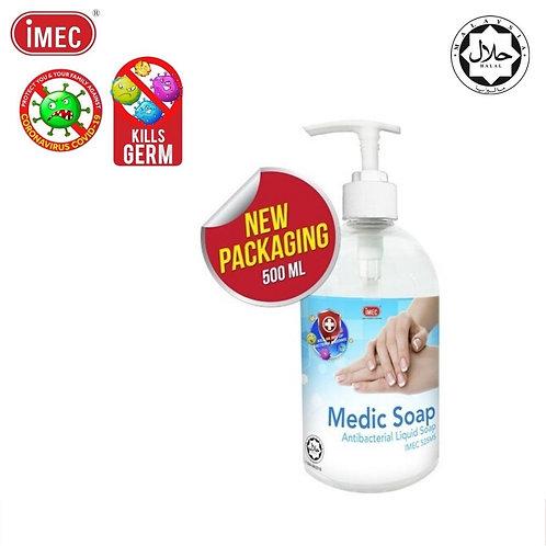 IMEC 525MS Medic Liquid Hand Soap, Halal, 500ml x 6 bottles