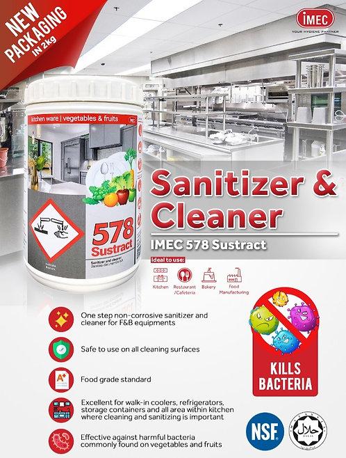 IMEC 578 Sustract, Food Grade Sanitizer, Deodorizer & Cleaner for Kitchen Utensi