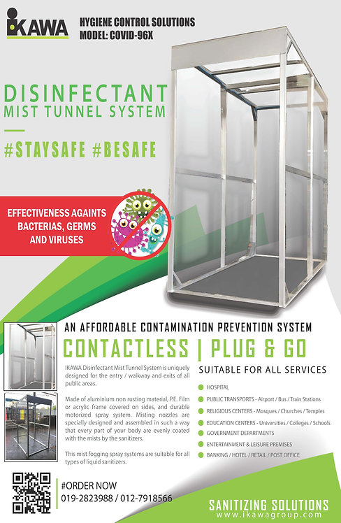 IKAWA DISINFECTANT MIST TUNNEL SYSTEM