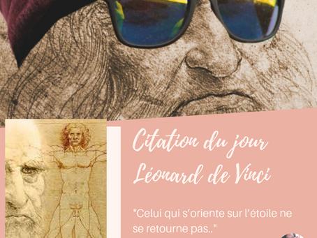 #citation Léonard de Vinci et aller de l'avant...