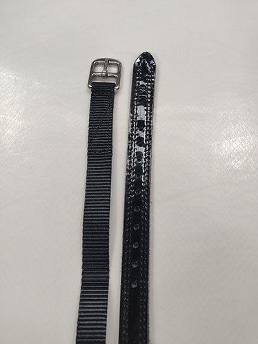 "3/4"" Terylene web stirrup leathers, semi lined"