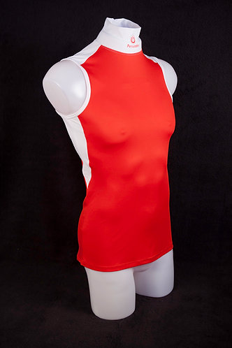 Red Tight Knit Polyester Mesh Singlet