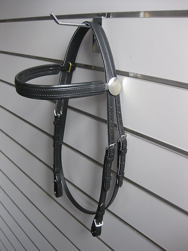 Bridle - Raceday PVC - Brass/Stainless Steel Buckles, Rosettes