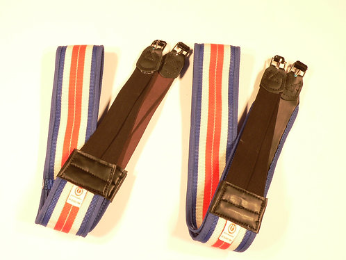 Medium Weight Double Elastic Girth, Rubber Lined L/R