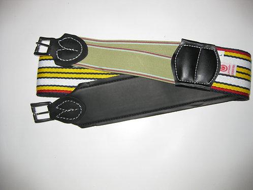 Exercise (Basic) Single Elastic Girth Grooved Roller Buckle