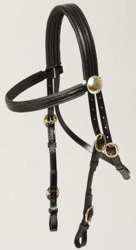 Bridle - Trackwork PVC Brass/Stainless Steel Buckes, Rosettes