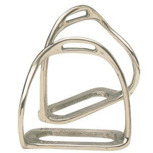 Chrome Plated Bent Leg Safety Stirrup Irons