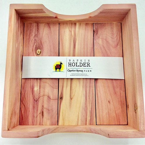 Tennessee Red Cedar Wood Napkin Holder
