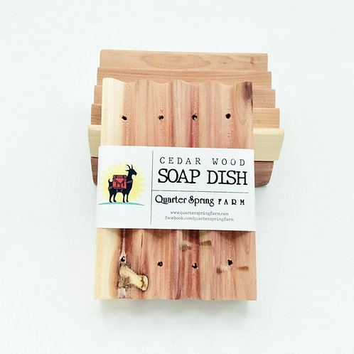 Boardwalk Cedar Soap Dish
