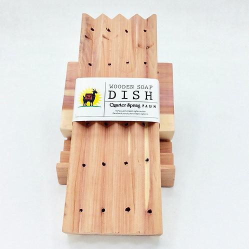 XL Boardwalk Cedar Soap Dish