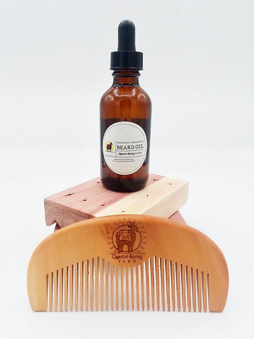 Kentucky Gentleman Beard Oil & Beard Comb Set