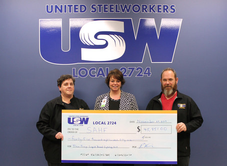 United Steelworkers Local 2724 support care for all in our community