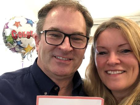 Kathlyn surprises Steve with $217,897.50!