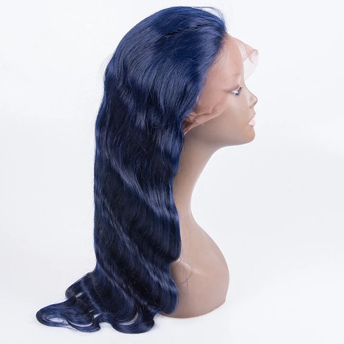 CUSTOM COLOR NAVY BLUE WIG