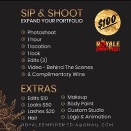 SIP & SHOOT $100