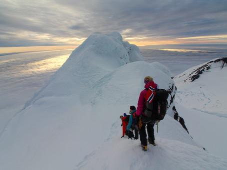 På toppen av Beerenberg